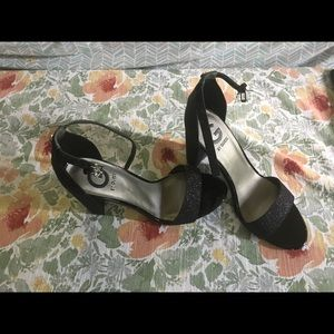 G by Guess, one strap heels